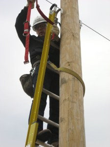 Man up a pole
