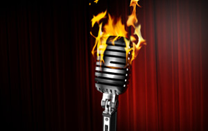 Microphone on fire