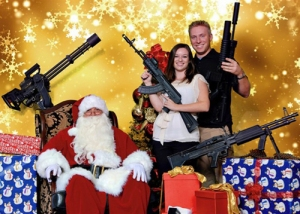 Bad Christmas Family-Photos-Santa-Guns