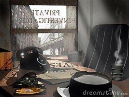 noir detective office